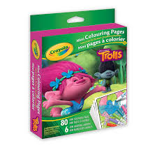 crayola mini coloring pages trolls drawing u0026 sketch pads