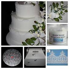 wedding cake kit sugar lace lace mat sugar flowers cake box and drum wedding