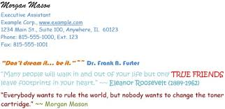 email signature etiquette examples of good and bad robert half