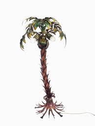 Floor Lamp Tree Branches German Hollywood Regency Polychromed Metal Palmtree Floor Lamp