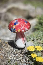 glass mushroom solar light gardener u0027s supply