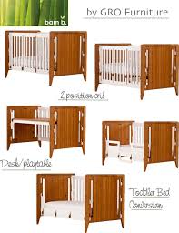 Baby Crib Convertible To Toddler Bed Gro Furniture Convertible Cribs That Grow With Your Child