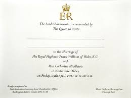 wedding invite royal wedding the prince william and kate middleton guest list as