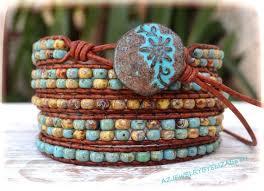 bead wrap bracelet leather images 575 best bead leather wire wrap bracelets images jpg