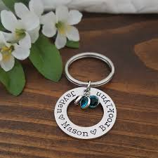 personalized birthstone keychains personalized birthstone keychain gifts for