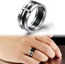 cross rings men images Brand black ring man fashion male jewelry accessories buycoolprice jpg