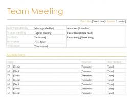 Free Staff Meeting Agenda Template by Excel Meeting Agenda Template