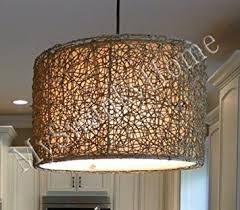L Shade Chandelier Knotted Rattan Light Hanging Shade Chandelier Home