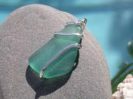 How To Make Jewelry From Sea Glass - wire wrapped sea glass jewelry dolgular com