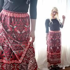 hawaiian pattern skirt vintage dresses skirts super soft vinatge tiki polynesian