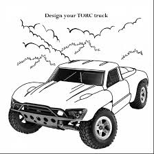 astonishing race truck coloring pages with monster truck coloring