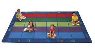Large Kids Rugs by Carpet For Kids Colorful Rug Classroom Direct