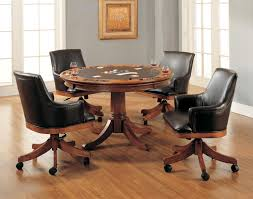 Leather Rolling Chair Dining Chairs Ergonomic Leather Swivel Dining Chairs Photo Faux