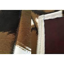 china faux patchwork cowhide rug printed pattern cow hide rug on