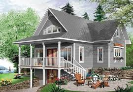 bold ideas waterfront house plans walkout basement plan w2939