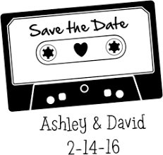 Save The Date Stamp Save The Date Cassette Tape Vintage Rubber Stamp