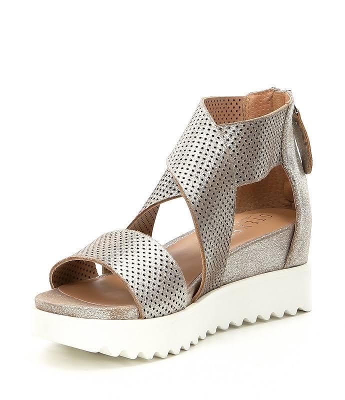 Steve Madden Nc-Klein Metallic Ankle Strap Heels