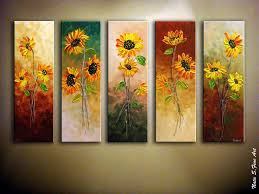 Best  Sunflower Home Decor Ideas On Pinterest Spring - Wall paintings for home decoration