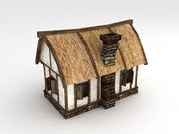 3d asset vr ar ready medieval house cgtrader