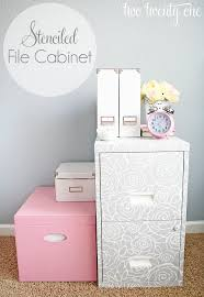 stenciled file cabinet two twenty one