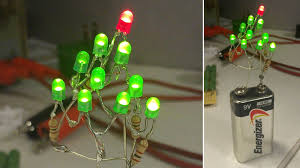 all you need for a christmas tree is a battery leds and a little