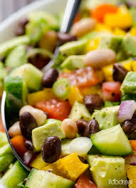 Garden Vegetable Salad by Mexican Bean Salad Recipe Ifoodreal