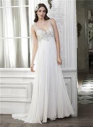 destination wedding dresses sheath v neck open back chiffon beaded destination wedding dress