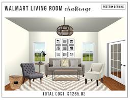 walmart living room budget design challenge postbox designs