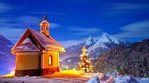 winter scenery christmas snow glow tree