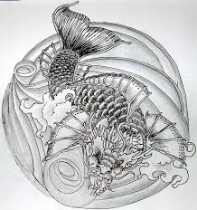42 best koi dragon tattoo drawings images on pinterest projects