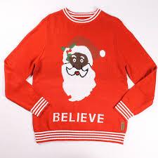 santa believe christmas sweater popcult wear