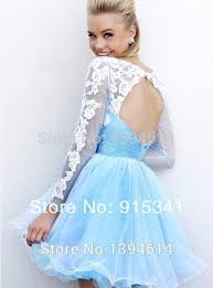 middle school graduation dresses 20152014 cheap organza lace sleeves prom dresses