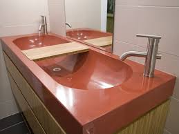 Trough Sink For Bathroom by Bathroom Sink Bathroom Double Brown Glossy Concrete Sink And