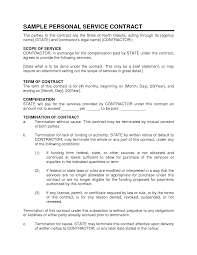Notice For Termination Of Services by Service Contract Sample Personal Service Contract 1 Pinterest