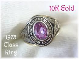 high school class ring companies 10k gold 1975 warrior run high school jostens class ring