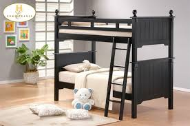 pottery bunk bed in black lightly distressed finish by homelegance