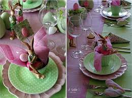 Fun Easter Table Decorations by Funny Rose And Green Easter Table Decoration