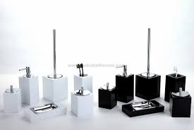 Discount Bathroom Accessories by Black And White Bed Bath Beyond Bathroom Accessories For Elegant