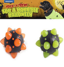 ancol flashing dog ball glow in the dark halloween specials