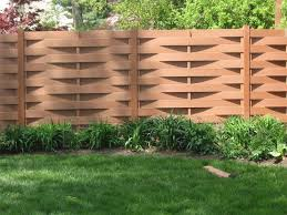 wave wooden fence gate design for modern house yard fence with