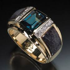 men rings randy polk designs men s rings 9x7mm london blue topaz center
