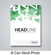 cover report colorful triangle geometric prospectus design eps
