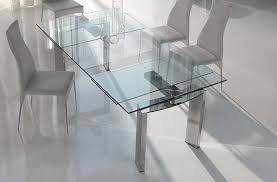 Extendable Dining Room Table - Glass dining room table with extension