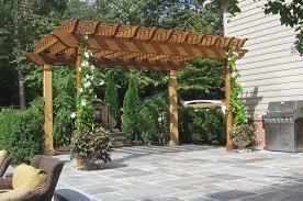 patio pergola kits uk landscaping gardening ideas