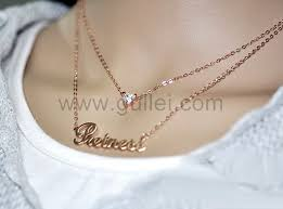 my name jewelry two chain gold plated my name necklace silver personalized couples