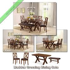 7 dining room sets 5 6 7 pc dining room sets maddox tables chairs benches country