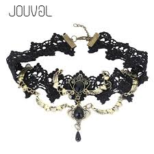 black gothic choker necklace images 2018 2017 collares sexy gothic chokers crystal black lace neck jpg