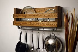 lighted pot rack pots and pan wall mounted hanging ideas overhead