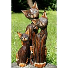 wooden cat statue pictures to pin on thepinsta