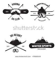 Wyoming travel logos images Set of ski club vintage mountain winter badges outdoor adventure jpg